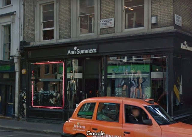 ann summers sex shop soho